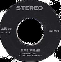 Black Sabbath - Tomorrow's Dream / Supernaut / Snowblind / St. Vitus Dance - Thailand - MC 976 - 197?- side 2