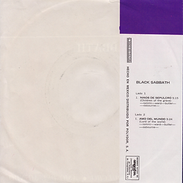 Black Sabbath - Paranoico / Ensalada DeRatas - Mexico - Vertigo 112 (6059 114)- 1971 - Back