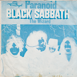 Black Sabbath - Paranoid / The Wizard + Neil Diamond - Cracklin Rosie / Lordy - Iran - Royal RT 653 - 1970