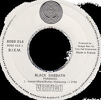 Black Sabbath - Paranoid / Rat Salad (Promo) - France - Vertigo 6059 014 - 1970 - Side 1
