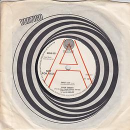 Sweet Leaf / Lord Of This World (Demo) - UK -Vertigo 6059 031 - 1971