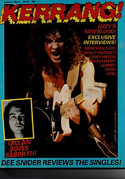 Black Sabbath - Kerrang No.40 - 1983