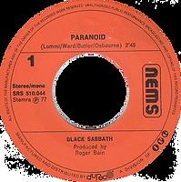 Black Sabbath - Paranoid / Tomorrow's Dream - Netherlands - NEMS SRS 510 044- 1977 - Side 1