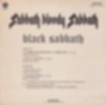 Black Sabbath  - Sabbath Bloody Sabbath / Rat Salad / Fluff / Paranoid - Brasil - Vertigo 6299003- 1974 - back
