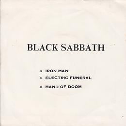 Black Sabbath - Iron Man / Electric Funeral / Hand Of Doom - Thailand - TKR -045 - 197?- Back