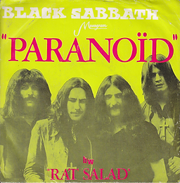 Black Sabbath - Paranoid / Rat Salad - Iran - Monogram P-244 - 197? - Side 1