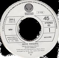 Black Sabbath - Neon Knights / Children Of The Sea - Japan - Vertigo 7PP5 - 1980 - Side 1
