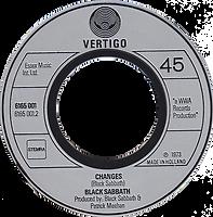 Black Sabbath - Sabbath Bloody Sabbath / Changes - Netherlands - Vertigo 6165001- 1973 - Side 2