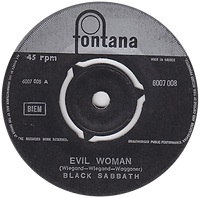 Black Sabbath - Evil Woman / Wicked World - Greece - Fontana 6007 008 - 1970 -  Side 1