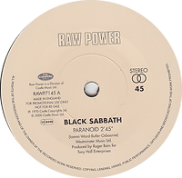Black Sabbath - Paranoid / The Wizard - UK -  Raw Power RAWP7145 - 2000 (For Promotional use only) - Side 1