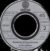 Black Sabbath - Hard Road / Symptom Of The Univers - Germany - Vertigo 6079104- 1979 - Side 2