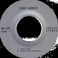 Black Sabbath - Iron Man / Electric Funeral / Hand Of Doom - Thailand - TKR -045 - 197?- Side 1