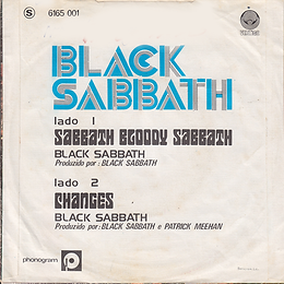 Black Sabbath - Sabbath Bloody Sabbath / Changes - Portugal - Vertigo  6165 001 - 1973 - Back