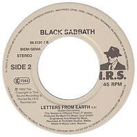 Black Sabbath - TV Crimes / Letters From Earth - Netherlands - I.R.S. 88 0130 7- 1992 - Side 2