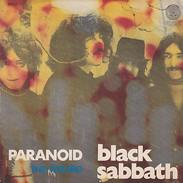 Black Sabbath - Paranoid / The Wizard - Italy - Vertigo  6059 010 - 1970- Front