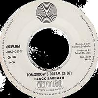 Black Sabbath - Tomorrow's Dream / Laguna Sunrise - Norway - Vertigo 6059 061 - 1972 - Side 1