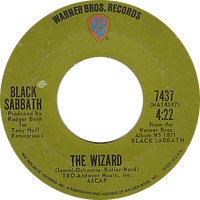 Paranoid / The Wizard Warner Bros 7437 - 1970