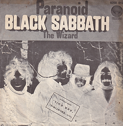 Black Sabbath - Paranoid / The Wizard - Israel - Vertigo  6059 010- 1970 - Front