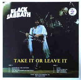 Black Sabbath - Take it Or Leave it - LP - Bootleg