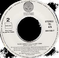 Black Sabbath - Mob Rules / Voodoo - Spain - Vertigo 6000 763 - 1981 - Side 2