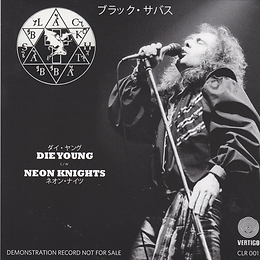 Die Young / Neon Knights Cult Legend Recording CLR 001. 16 November 1980 - Sun Plaza Hall - Tokyo - Japan