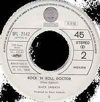 Black Sabbath - It's Alright / Rock'n'Roll Doctor - Japan - Vertigo SFL-2142 - 1976 - Side 2