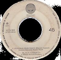 Black Sabbath - Paranoico / Ensalada DeRatas / Funeral Electrico - Mexico - Vertigo 6276 004 - 1971 - Side B