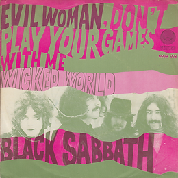 Black Sabbath - Evil Woman / Wicked World - Netherlands - Vertigo 6059 002 - 1970 - Front
