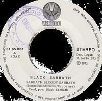 Black Sabbath - Sabbath Bloody Sabbath / Changes- Spain - Vertigo 6165 001- 1973 - Side 1