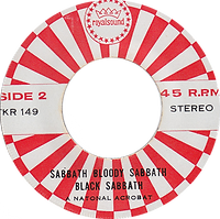 Black Sabbath - Who Are You / Spiral Architect / A National Acrobat - Thailand - Royalsound TKR 149 - 197?- side 2