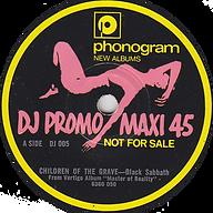 Black Sabbath -Children Of The Grave  (Promo) - UK - Phonogram DJ 005- 1972 - Side 1