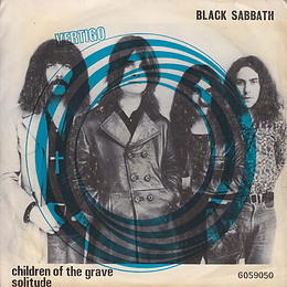 Black Sabbath - Children Of The Grave / Solitude - Portugal - Vertigo  6059 050 - 1970 - Front