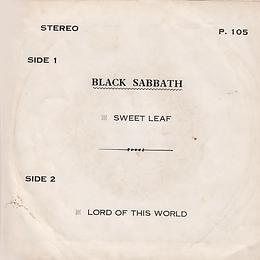 Black Sabbath - Sweet Leaf / Lord Of This World - Thailand - HHH P.105 - 197? - Back