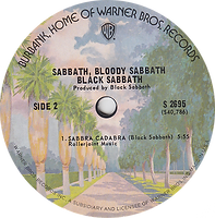 Black Sabbath - Looking For Today / Sabbath Bloody Sabbath / Abra Cadabra Warner Bros  S 2697 - 1974 - Side 2