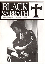 Black Sabbath - Fanzine - Appreciation Society - Volume 1
