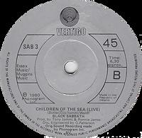 Black Sabbath  - Neon Knights / Children Of The Sea (Live) - Ireland - Vertigo SAB 3 - 1980 - Side B