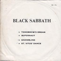 Black Sabbath - Tomorrow's Dream / Supernaut / Snowblind / St. Vitus Dance - Thailand - MC 976 - 197?- Back