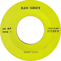 Black Sabbath - Sweet Leaf / Lord Of This World - Thailand - TKR 040 - 197?- side 1