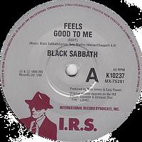 Black Sabbath -Feel Good To Me / Paranoid (Live) - Australia - I.R.S. K10237- 1990
