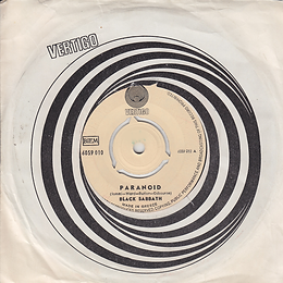 Black Sabbath - Paranoid / The Wizard - Greece - Vertigo 6059 010 - 1970