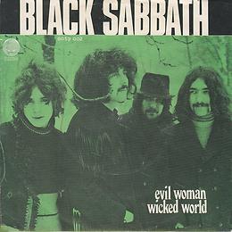 Black Sabbath - Evil Woman / Wicked World - Norway - Vertigo 6059 002 - 1970