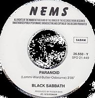 Black Sabbath - Paranoid / Tomorrow's Dream - Belgium - NEMS 26.550 - 1980 - Side 1