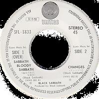 Black Sabbath - Sabbath Bloody Sabbath / Changes - Japan Promo - Vertigo SFL-1833 - 1974 - Side 2