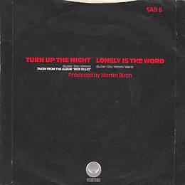 Black Sabbath -Turn Up The Night / Lonely Is The Word - UK - Vertigo SAB 6- 1981 - Back