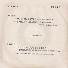 Jams Gang - Must Be Love / Black Sabbath - Sabbath Bloody Sabbath / Rolling Stones - Doo Doo Doo Doo Doo (Heartbreaker) / Gregg Allmann - Midnight Rider - - Thailand - 4 Track FTR-201 - 197?- Back