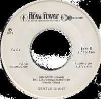 Black Sabbath - Black Sabbath / Gentle Giant - Giante - Mexico - Rock Power RJ-01 - 1971 - Side B
