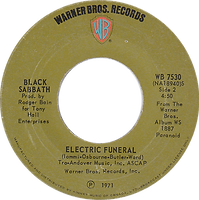 Black Sabbath - Iron Man / Electric Funeral - Canada - Warner Brother 7530 - 1971 - Side 2