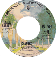 Sabbath Bloody Sabbath / Changes Warner Bros 7764 - 1974 - side 2
