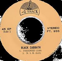 Black Sabbath - Paranoid / N.I.B. / Sweet Leaf / Iron Man - Thailand - 4 Track FT.955 - 197?- SIde 1