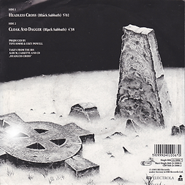 Black Sabbath  - Headless Cross / Cloak And Dagger - Netherlands - I.R.S. 006-24 1006 7 - 1989 - Back